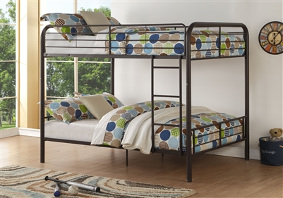 Bristol Full/Full Bunk Bed in Dark Brown Finish by Acme - 37433