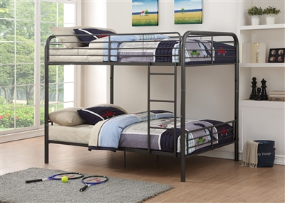 Bristol Full/Full Bunk Bed in Gunmetal Finish by Acme - 37435