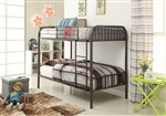 Bristol Twin/Twin Bunk Bed in Gunmetal Finish by Acme - 37535