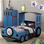 Tobi Twin Bed in Blue/Red & Black Finish by Acme - 37560T