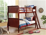 Louis Philippe Twin/Twin Bunk Bed in Cherry Finish by Acme - 37615