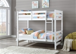 Ronnie Twin/Twin Bunk Bed in White Finish by Acme - 37785