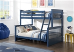 Harley II Twin/Full Storage Bunk Bed in Navy Blue Finish by Acme - 37865