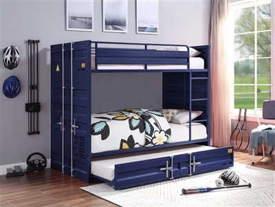 Cargo Twin/Twin Bunk Bed in Blue Finish by Acme - 37900