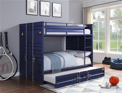 Cargo Full/Full Bunk Bed in Blue Finish by Acme - 37905