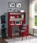 Cargo 2 Piece Computer Desk and Hutch in Red Finish by Acme - 37917