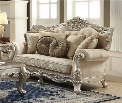 Bently Loveseat in Champagne Finish by Acme - 50661