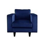 Heather Chair in Navy Velvet Finish by Acme - 51077
