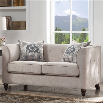 Cyndi Loveseat in Tan Fabric Finish by Acme - 52056
