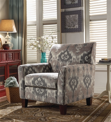 Cyndi Accent Chair in Pattern Fabric Finish by Acme - 52058
