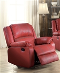 Zuriel Rocker Recliner in Red Finish by Acme - 52152