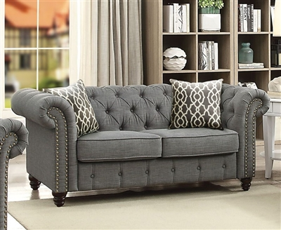 Aurelia Loveseat in Gray Finish by Acme - 52426