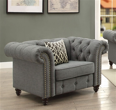 Aurelia Chair in Gray Finish by Acme - 52427