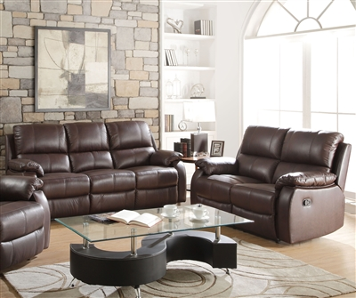 Enoch 2 Piece Motion Sofa Set in Dark Brown Finish by Acme - 52450-S