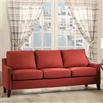 Zapata Sofa in Red Linen Finish by Acme - 52490