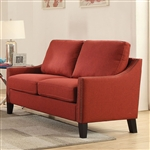Zapata Loveseat in Red Linen Finish by Acme - 52491