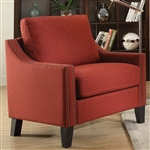 Zapata Chair in Red Linen Finish by Acme - 52492