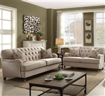 Alianza 2 Piece Sofa Set in Beige Finish by Acme - 52580-S