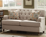 Alianza Loveseat in Beige Finish by Acme - 52581