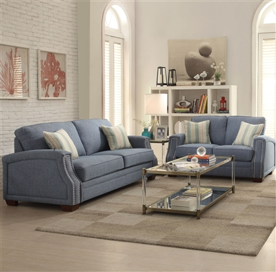 Betisa 2 Piece Sofa Set in Light Blue Finish by Acme - 52585-S