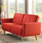 Sisilla Loveseat in Red Finish by Acme - 52661
