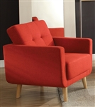 Sisilla Chair in Red Finish by Acme - 52662