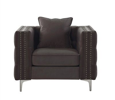 Gillian II Chair in Dark Gray Velvet Finish by Acme - 53389