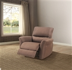 Alyssum Recliner in Chocolate Linen Finish by Acme - 53457