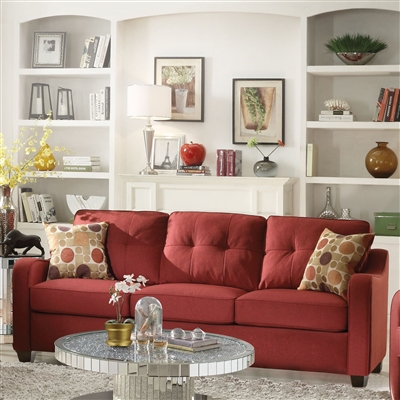 Cleavon II Sofa in Red Linen Finish by Acme - 53560