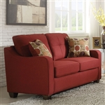 Cleavon II Loveseat in Red Linen Finish by Acme - 53561