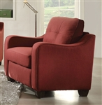 Cleavon II Chair in Red Linen Finish by Acme - 53562