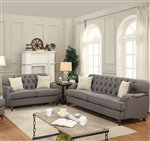 Alianza 2 Piece Sofa Set in Dark Gray Finish by Acme - 53690-S