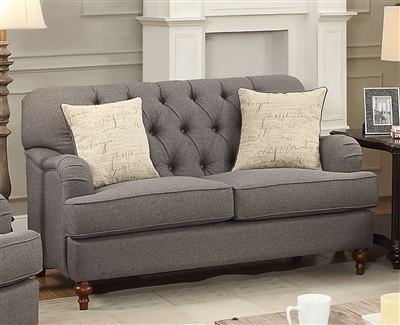 Alianza Loveseat in Dark Gray Finish by Acme - 53691
