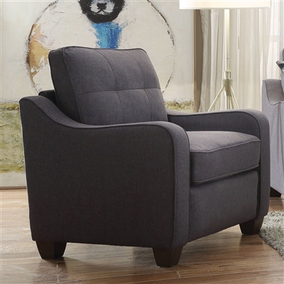 Cleavon II Chair in Gray Linen Finish by Acme - 53792