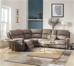 Olwen 6 Piece Power Motion Sectional in Mocha Nubuck Finish by Acme - 54590