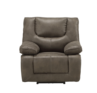 Harumi Power Motion Recliner in Gray Leather-Aire Finish by Acme - 54897