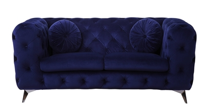 Atronia Loveseat in Blue Fabric Finish by Acme - 54901