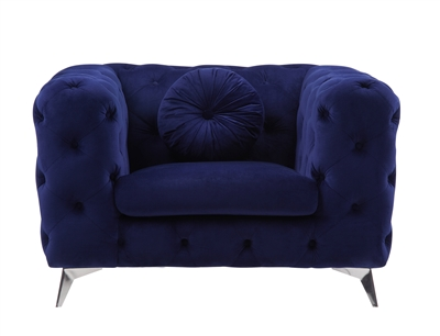Atronia Chair in Blue Fabric Finish by Acme - 54902