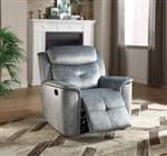 Mariana Recliner in Silver Blue Fabric Finish by Acme - 55037