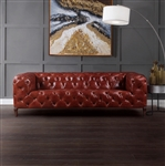 Orsin Sofa in Merlot Top Grain Leather Finish by Acme - 55070