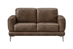 Reagan Loveseat in 2-Tone Mocha Polished Microfiber Finish by Acme - 55086