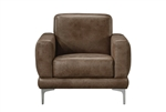 Reagan Chair in 2-Tone Mocha Polished Microfiber Finish by Acme - 55087