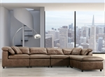 Audrey 4 Piece Sectional in 2-Tone Mocha Polished Microfiber Finish by Acme - 55100-55102