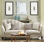 Athalia Sofa in Shimmering Pearl Finish by Acme - 55305