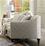 Athalia Loveseat in Shimmering Pearl Finish by Acme - 55306