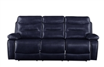 Aashi Motion Sofa in Navy Leather-Gel Match Finish by Acme - 55370