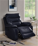 Aashi Motion Recliner in Navy Leather-Gel Match Finish by Acme - 55372