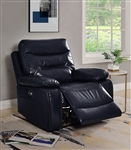 Aashi Power Motion Recliner in Navy Leather-Gel Match Finish by Acme - 55373