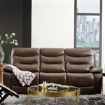 Aashi Motion Sofa in Brown Leather-Gel Match Finish by Acme - 55420