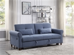 Nichelle Sleeper Sofa in Blue Fabric Finish by Acme - 55565